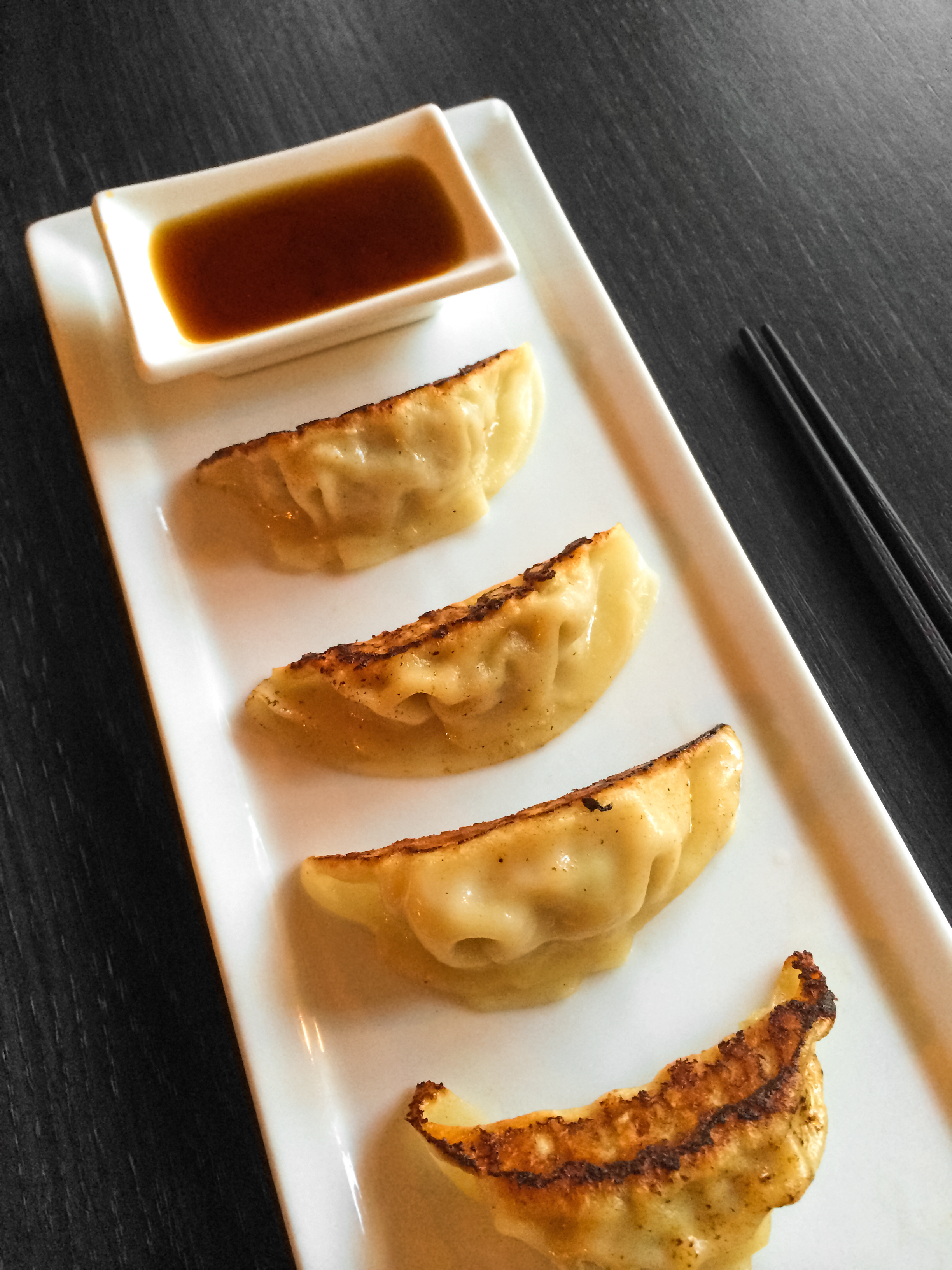 Pan-fried dumplings Japanese cuisine